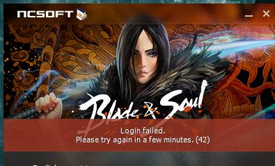 Blade And Soul Na/Eu Login Failed 42 Error Solution Method