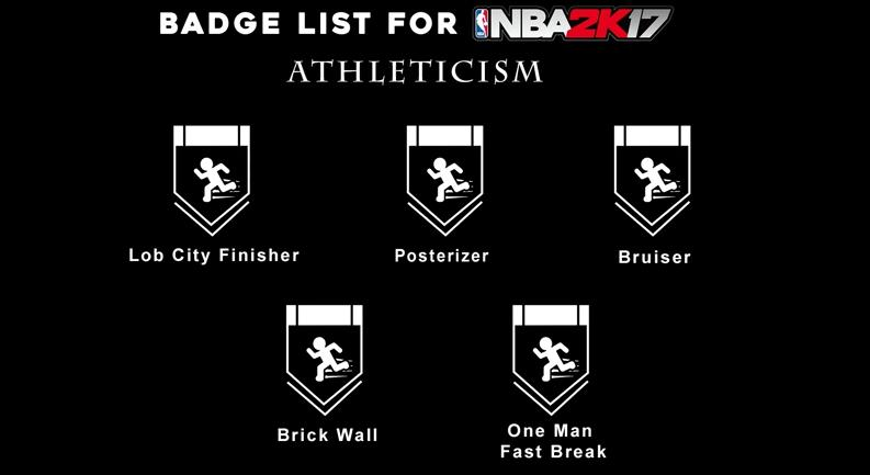 badge list for nba 2k17 game
