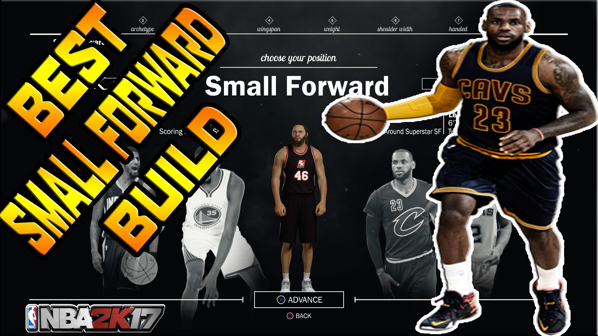 nba 2k17 small forward build