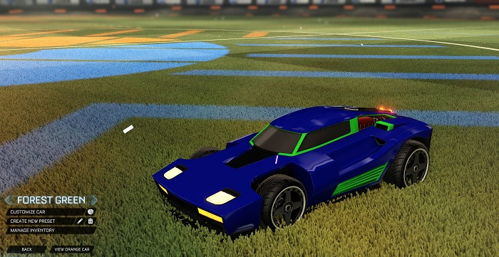 Rocket League New Painted Cars Bodies - Painted Breakout - Forest Green