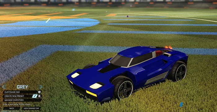 Rocket League New Painted Cars Bodies - Painted Breakout - Grey