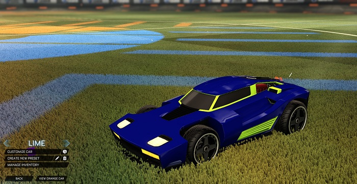 Rocket League New Painted Cars Bodies - Painted Breakout - Lime