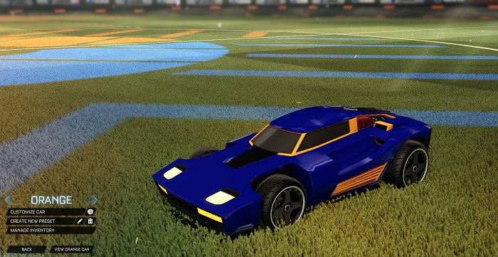 Rocket League New Painted Cars Bodies - Painted Breakout - Orange