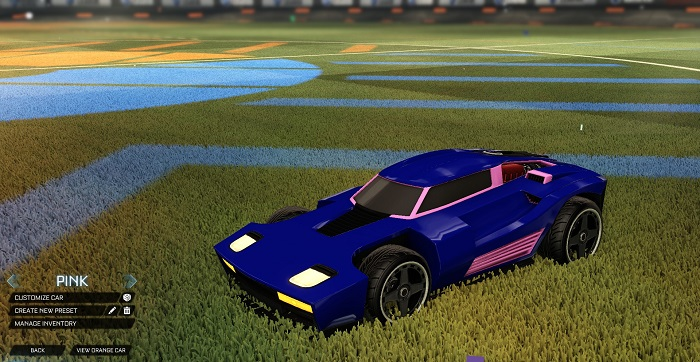 Rocket League New Painted Cars Bodies - Painted Breakout - Pink