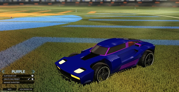Rocket League New Painted Cars Bodies - Painted Breakout - Purple