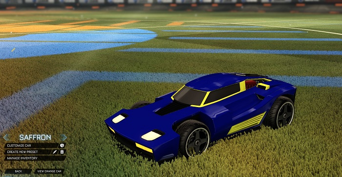 Rocket League New Painted Cars Bodies - Painted Breakout - Saffron