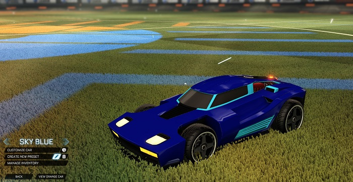 Rocket League New Painted Cars Bodies - Painted Breakout - Sky Blue