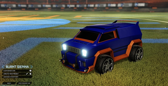 Rocket League New Painted Cars Bodies - Painted Merc - Burnt Sienna