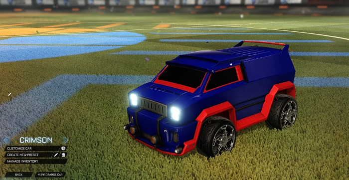 Rocket League New Painted Cars Bodies - Painted Merc - Crimson