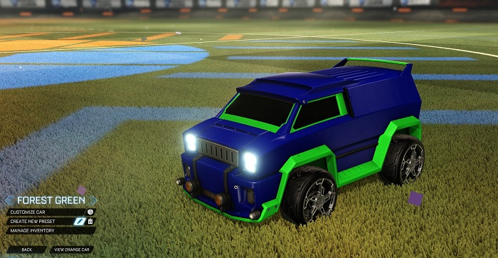 Rocket League New Painted Cars Bodies - Painted Merc - Forest Green