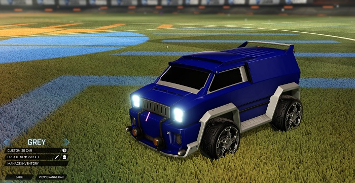 Rocket League New Painted Cars Bodies - Painted Merc - Grey