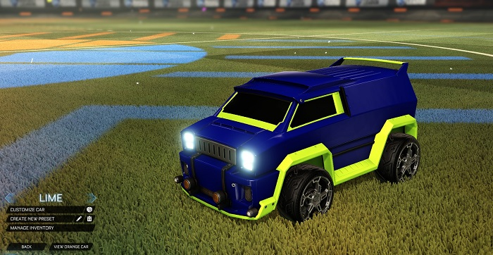 Rocket League New Painted Cars Bodies - Painted Merc - Lime