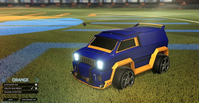 Rocket League New Painted Cars Bodies - Painted Merc - Orange