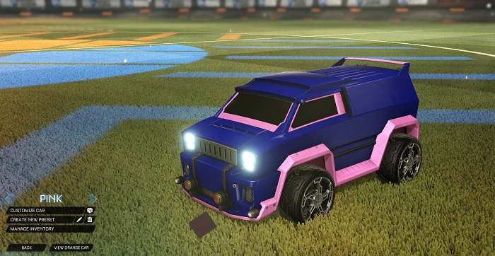 Rocket League New Painted Cars Bodies - Painted Merc - Pink