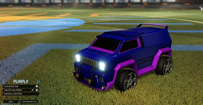 Rocket League New Painted Cars Bodies - Painted Merc - Purple