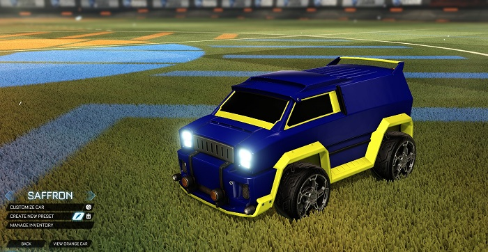 Rocket League New Painted Cars Bodies - Painted Merc - Saffron