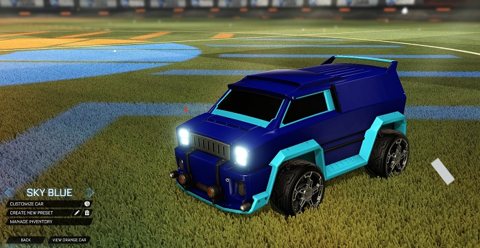 Rocket League New Painted Cars Bodies - Painted Merc - Sky Blue