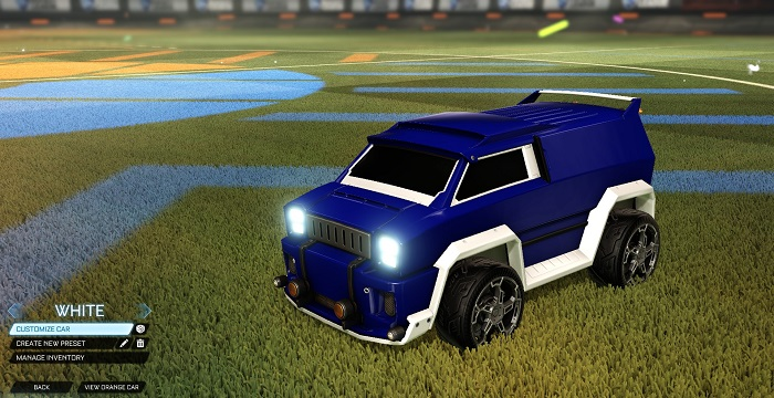 Rocket League New Painted Cars Bodies - Painted Merc - White