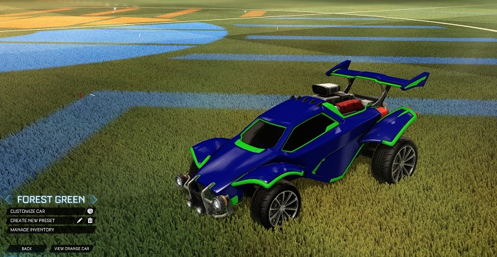 Rocket League New Painted Cars Bodies - Painted Octanes - Forest Green