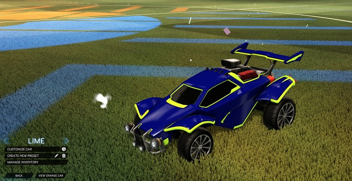Rocket League New Painted Cars Bodies - Painted Octanes - Lime