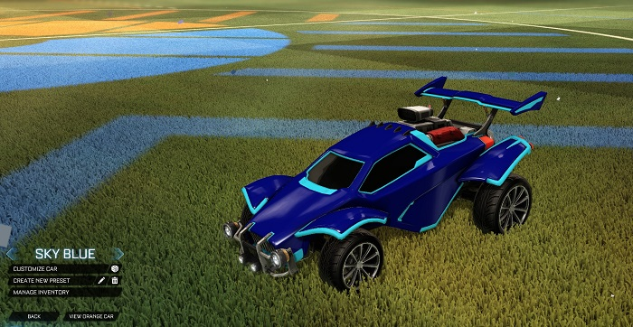 Rocket League New Painted Cars Bodies - Painted Octanes - Skyle Blue