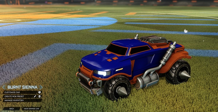 Rocket League New Painted Cars Bodies - Painted Road Hog - Burnt Sienna