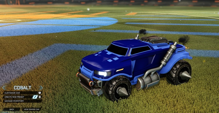 Rocket League New Painted Cars Bodies - Painted Road Hog - Cobalt