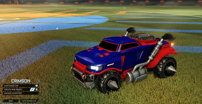 Rocket League New Painted Cars Bodies - Painted Road Hog - Crimson