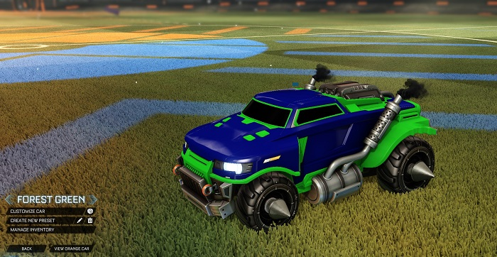 Rocket League New Painted Cars Bodies - Painted Road Hog - Forest Green