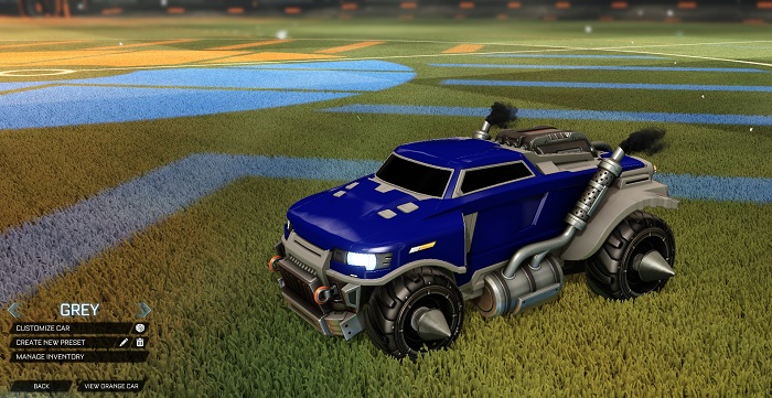 Rocket League New Painted Cars Bodies - Painted Road Hog - Grey