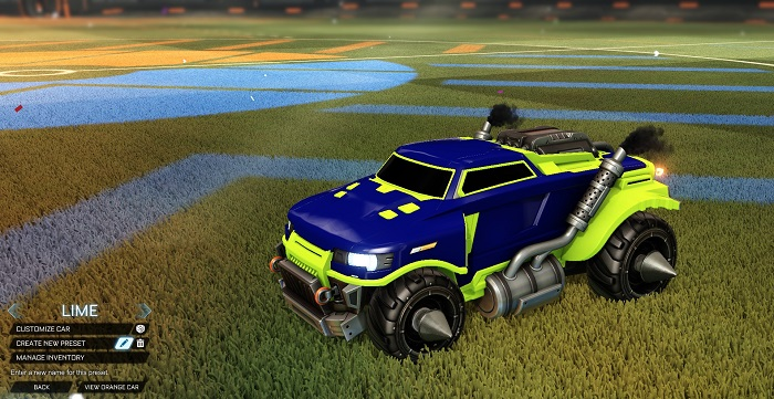 Rocket League New Painted Cars Bodies - Painted Road Hog - Lime