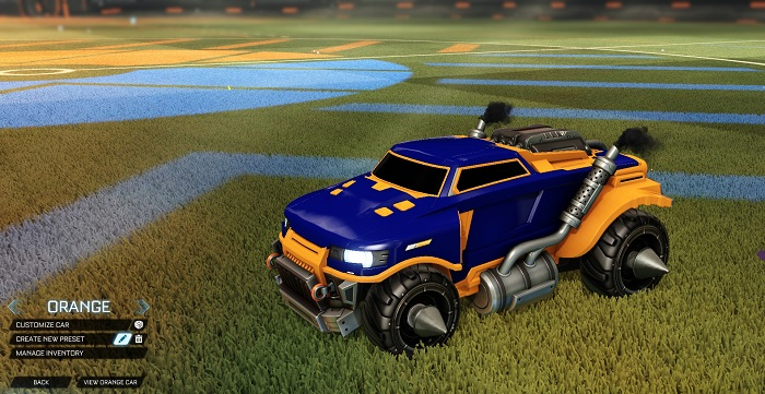 Rocket League New Painted Cars Bodies - Painted Road Hog - Orange
