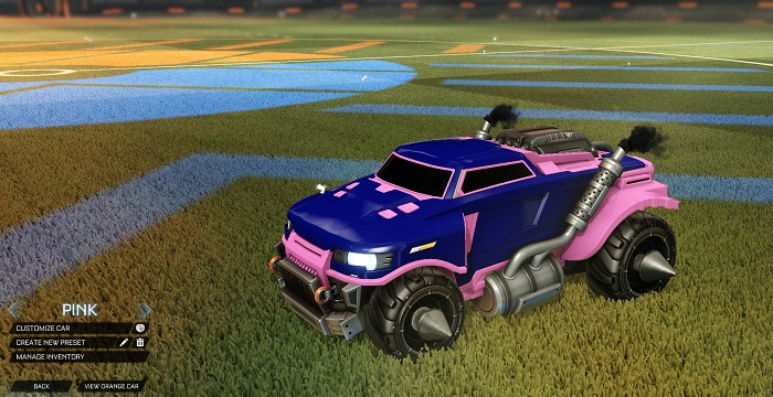 Rocket League New Painted Cars Bodies - Painted Road Hog - Pink