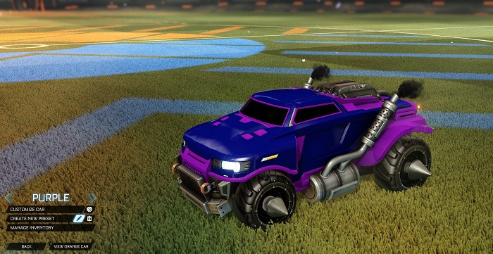 Rocket League New Painted Cars Bodies - Painted Road Hog - Purple