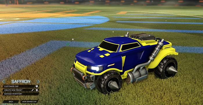 Rocket League New Painted Cars Bodies - Painted Road Hog - Saffron
