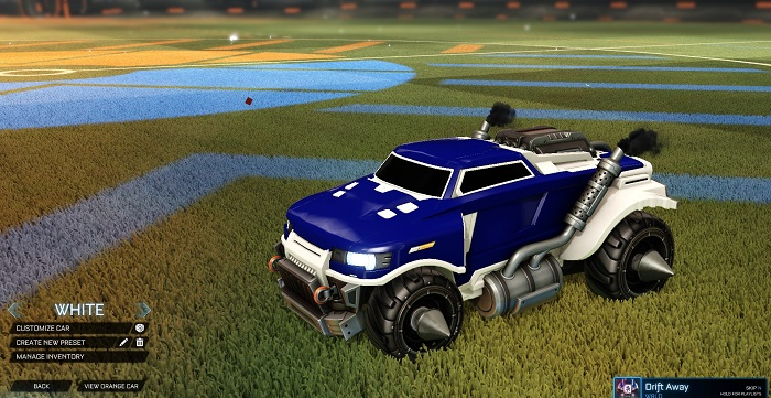 Rocket League New Painted Cars Bodies - Painted Road Hog - White