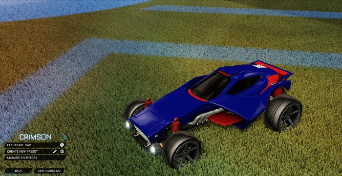Rocket League New Painted Cars Bodies - Painted Venom - Crimson
