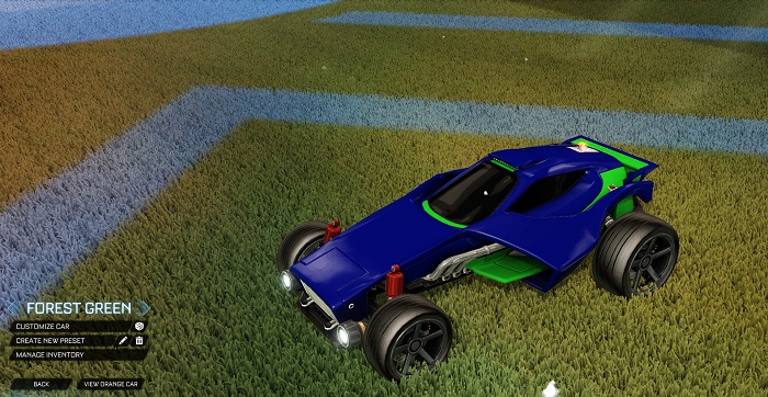 Rocket League New Painted Cars Bodies - Painted Venom - Forest Green