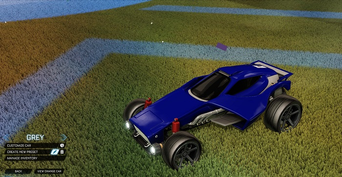 Rocket League New Painted Cars Bodies - Painted Venom - Grey