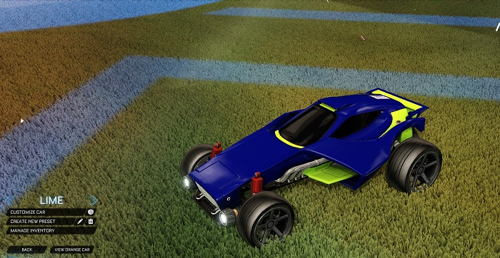 Rocket League New Painted Cars Bodies - Painted Venom - Lime