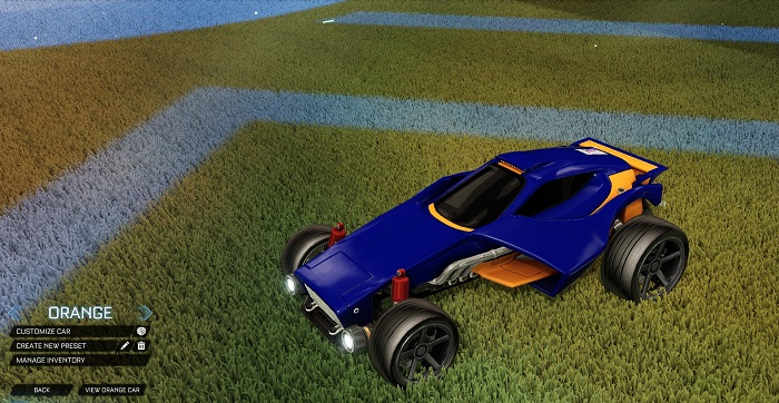 Rocket League New Painted Cars Bodies - Painted Venom - Orange