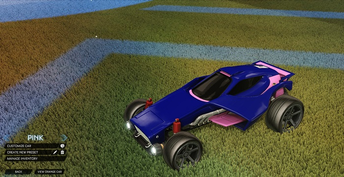 Rocket League New Painted Cars Bodies - Painted Venom - Pink