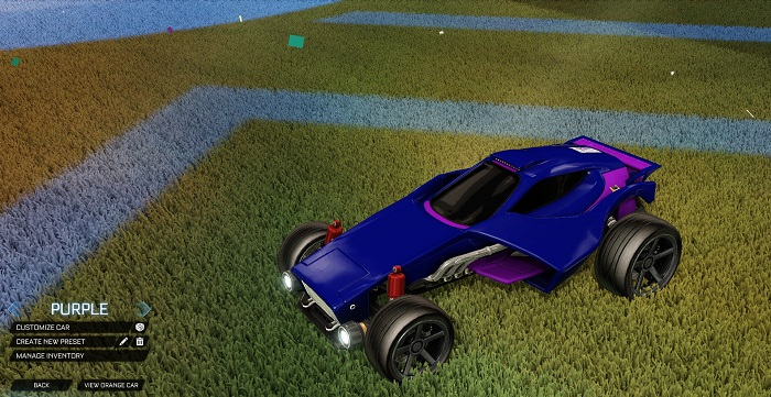 Rocket League New Painted Cars Bodies - Painted Venom - Purple