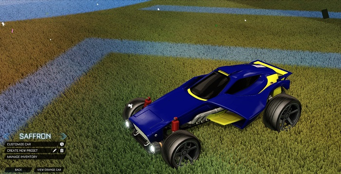 Rocket League New Painted Cars Bodies - Painted Venom - Saffron