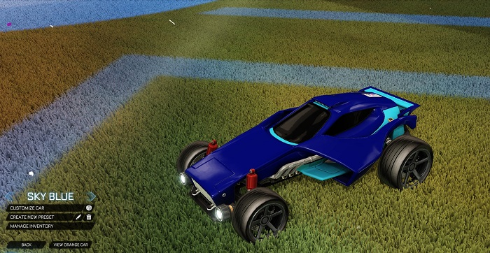 Rocket League New Painted Cars Bodies - Painted Venom - Sky Blue
