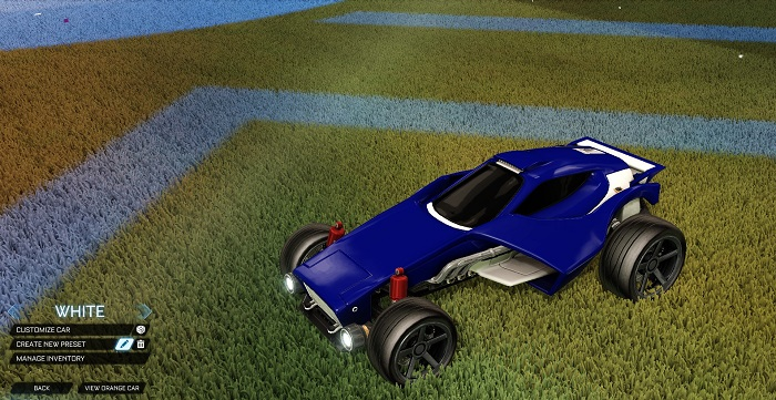Rocket League New Painted Cars Bodies - Painted Venom - White