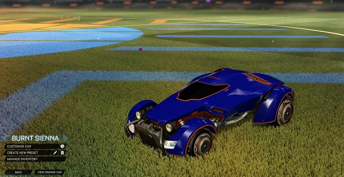 Rocket League New Painted Cars Bodies - Painted X-Devil - Burnt Sienna