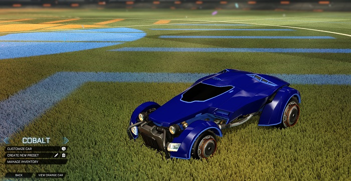 Rocket League New Painted Cars Bodies - Painted X-Devil - Cobalt