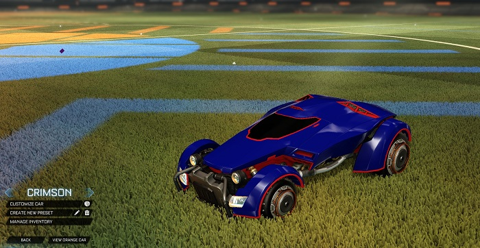 Rocket League New Painted Cars Bodies - Painted X-Devil - Crimson