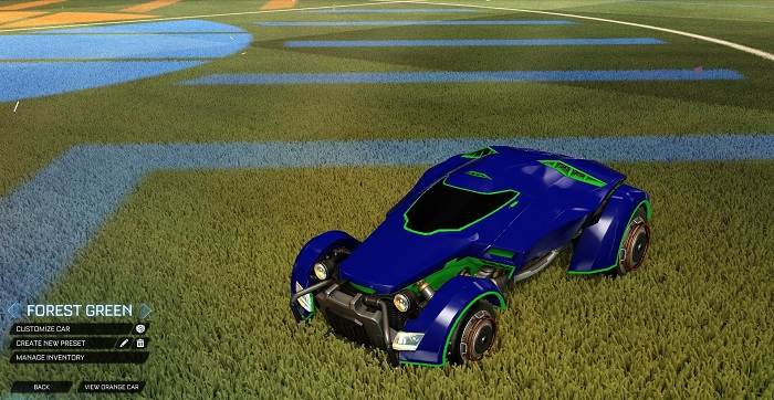 Rocket League New Painted Cars Bodies - Painted X-Devil - Forest Green